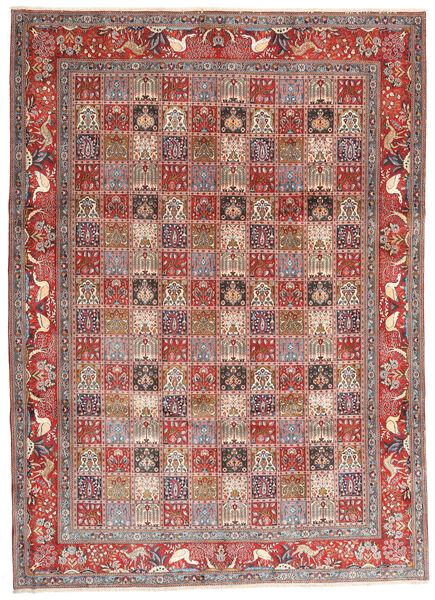 Moud Vloerkleed 243X338 Echt Oosters Handgeknoopt Donkerrood/Beige (Wol/Zijde, Perzië/Iran)