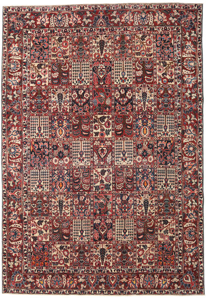 Bakhtiar Patina Vloerkleed 253X365 Echt Oosters Handgeknoopt Donkerrood/Donkerbruin Groot (Wol, Perzië/Iran)