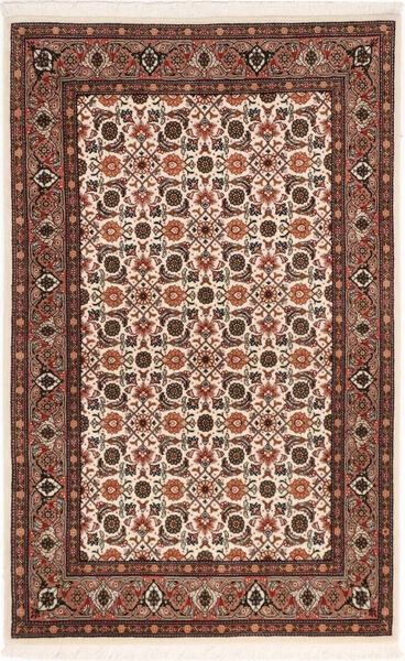 Tabriz 50 Raj Vloerkleed 80X129 Echt Oosters Handgeknoopt Donkerbruin/Donkerrood (Wol/Zijde, Perzië/Iran)