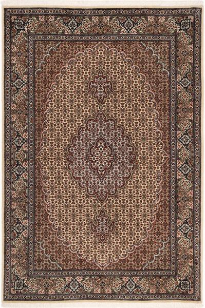 Tabriz 50 Raj Vloerkleed 100X150 Echt Oosters Handgeknoopt Donkerbruin/Bruin (Wol/Zijde, Perzië/Iran)