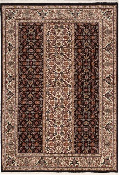 Tabriz 50 Raj Vloerkleed 100X155 Echt Oosters Handgeknoopt Donkerbruin/Bruin (Wol/Zijde, Perzië/Iran)