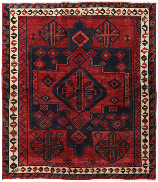 Lori Vloerkleed 174X200 Echt Oosters Handgeknoopt Donkerrood/Zwart (Wol, Perzië/Iran)