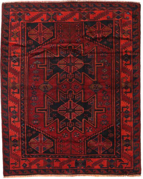 Lori Vloerkleed 168X208 Echt Oosters Handgeknoopt Donkerrood/Roestkleur (Wol, Perzië/Iran)