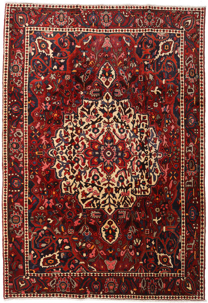 Bakhtiar Vloerkleed 214X310 Echt Oosters Handgeknoopt Donkerrood/Zwart (Wol, Perzië/Iran)