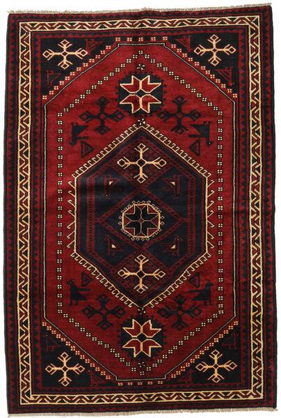 Lori Vloerkleed 180X260 Echt Oosters Handgeknoopt Zwart/Donkerrood (Wol, Perzië/Iran)