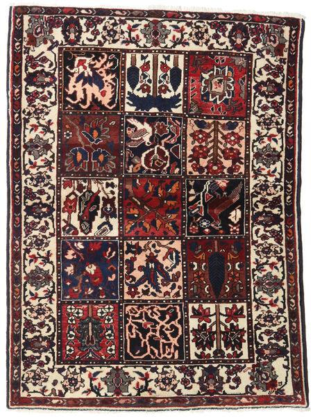 Bakhtiar Vloerkleed 110X151 Echt Oosters Handgeknoopt Donkerbruin/Beige (Wol, Perzië/Iran)