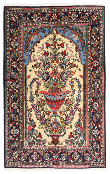 Ghom Kork/Zijde Vloerkleed 133X211 Echt Oosters Handgeknoopt Donkerbruin/Beige (Wol/Zijde, Perzië/Iran)