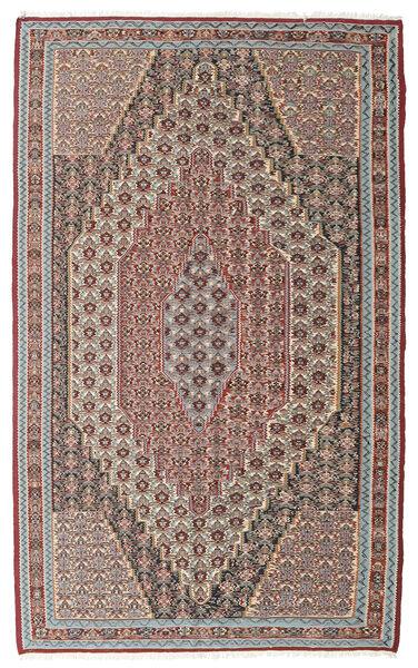 Kelim Senneh Vloerkleed 148X237 Echt Oosters Handgeweven Lichtgrijs/Lichtbruin (Wol, Perzië/Iran)