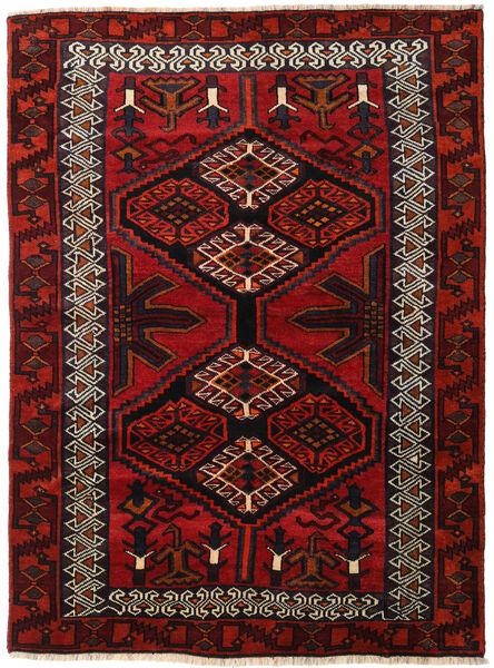 Lori Vloerkleed 165X223 Echt Oosters Handgeknoopt Donkerrood/Roestkleur (Wol, Perzië/Iran)