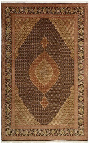 Tabriz 50 Raj Vloerkleed 203X311 Echt Oosters Handgeweven Bruin/Donkerbruin/Lichtbruin (Wol/Zijde, Perzië/Iran)
