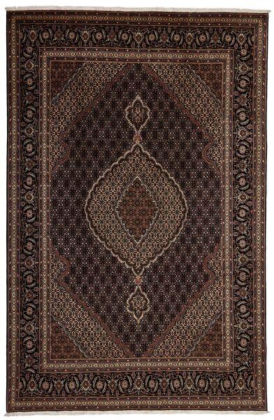 Tabriz 40 Raj Vloerkleed 197X302 Echt Oosters Handgeweven Donkerrood/Donkerbruin (Wol/Zijde, Perzië/Iran)