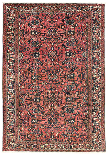 Bakhtiar Vloerkleed 220X311 Echt Oosters Handgeknoopt Donkerrood/Zwart (Wol, Perzië/Iran)
