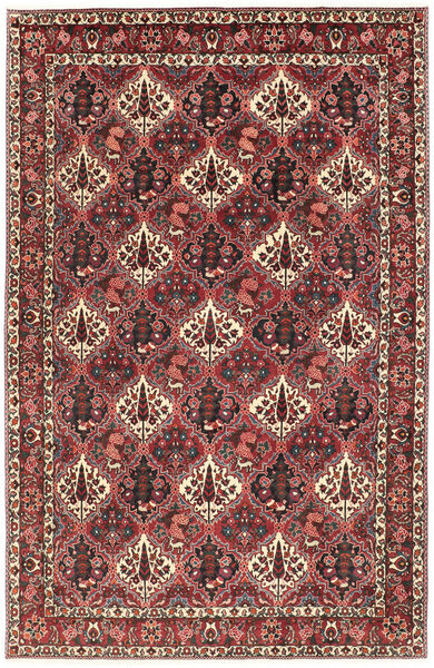 Bakhtiar Vloerkleed 200X303 Echt Oosters Handgeknoopt Donkerrood/Donkerbruin (Wol, Perzië/Iran)