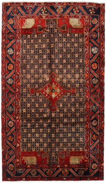 Koliai Vloerkleed 150X261 Echt Oosters Handgeknoopt Donkerbruin/Donkerrood (Wol, Perzië/Iran)