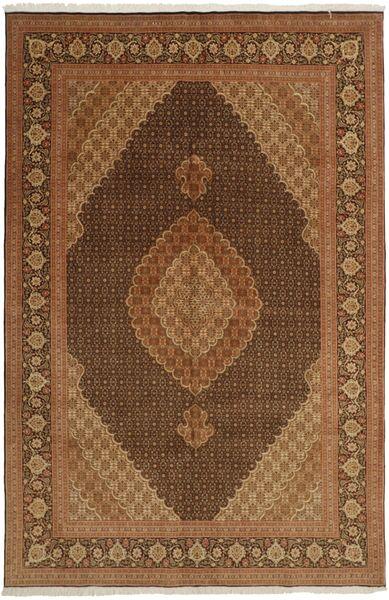 Tabriz 50 Raj Vloerkleed 196X301 Echt Oosters Handgeweven Bruin/Donkerbruin (Wol/Zijde, Perzië/Iran)