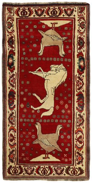 Ghashghai Vloerkleed 97X197 Echt Oosters Handgeweven Donkerrood/Donkerbruin (Wol, Perzië/Iran)