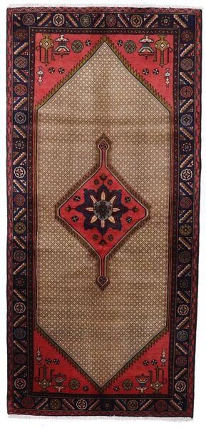Koliai Vloerkleed 92X198 Echt Oosters Handgeknoopt Tapijtloper Donkerbruin/Bruin (Wol, Perzië/Iran)