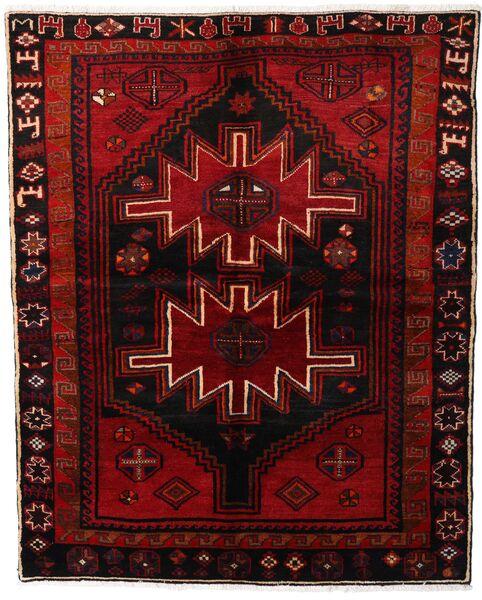 Lori Vloerkleed 165X204 Echt Oosters Handgeknoopt Donkerbruin/Donkerrood (Wol, Perzië/Iran)