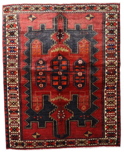 Lori Vloerkleed 157X198 Echt Oosters Handgeknoopt Donkerrood/Donkerbruin (Wol, Perzië/Iran)