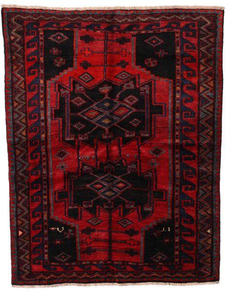 Lori Vloerkleed 151X191 Echt Oosters Handgeknoopt Donkerrood/Rood (Wol, Perzië/Iran)