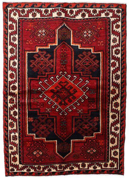 Lori Vloerkleed 148X213 Echt Oosters Handgeknoopt Donkerrood/Donkerbruin (Wol, Perzië/Iran)