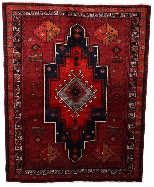Lori Vloerkleed 164X208 Echt Oosters Handgeknoopt Donkerrood (Wol, Perzië/Iran)