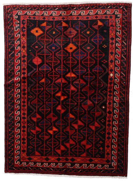 Lori Vloerkleed 147X200 Echt Oosters Handgeknoopt Donkerrood (Wol, Perzië/Iran)