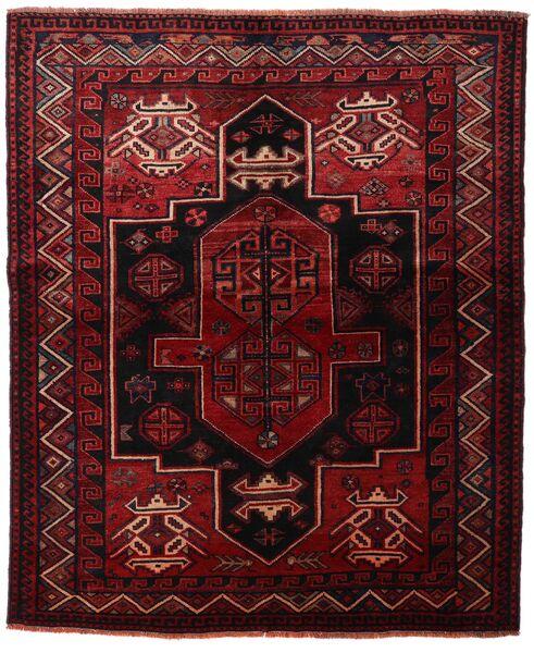 Lori Vloerkleed 163X196 Echt Oosters Handgeknoopt Donkerrood/Donkerbruin (Wol, Perzië/Iran)