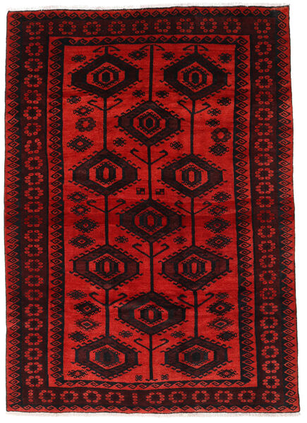 Lori Vloerkleed 177X244 Echt Oosters Handgeknoopt Donkerrood/Roestkleur (Wol, Perzië/Iran)