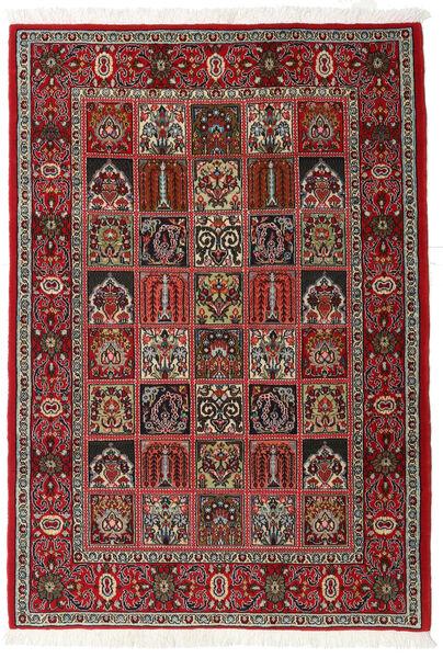 Ghom Kork/Zijde Vloerkleed 110X157 Echt Oosters Handgeknoopt Donkerbruin/Donkerrood (Wol/Zijde, Perzië/Iran)