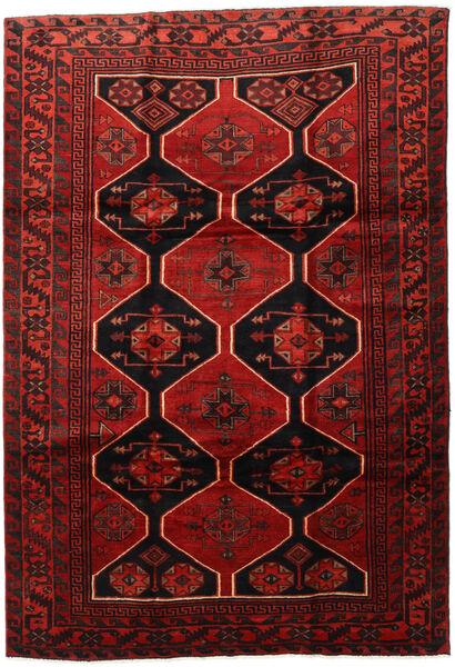 Lori Vloerkleed 218X317 Echt Oosters Handgeknoopt Donkerrood/Donkerbruin/Roestkleur (Wol, Perzië/Iran)