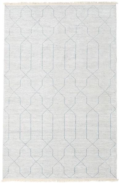 Bamboe Zijde Handloom Vloerkleed 160X230 Echt Modern Handgeknoopt Beige/Lichtgrijs/Wit/Creme ( India)
