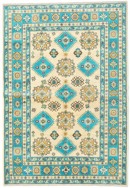 Kazak Vloerkleed 172X248 Echt Oosters Handgeknoopt Beige/Donkerbeige (Wol, Afghanistan)