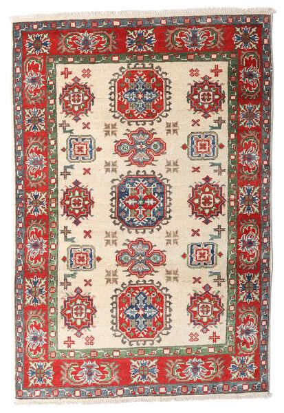 Kazak Vloerkleed 84X125 Echt Oosters Handgeknoopt Beige/Donkerbruin (Wol, Afghanistan)