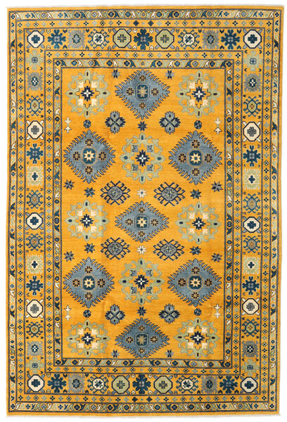Kazak Vloerkleed 199X296 Echt Oosters Handgeknoopt Oranje/Donkergrijs (Wol, Afghanistan)