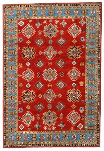 Kazak Vloerkleed 197X289 Echt Oosters Handgeknoopt Roestkleur/Lichtbruin (Wol, Afghanistan)
