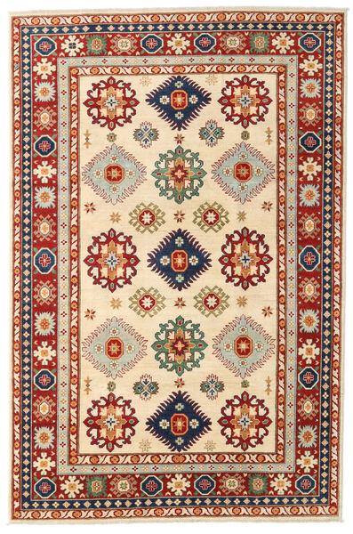 Kazak Vloerkleed 198X301 Echt Oosters Handgeknoopt Donkerrood/Beige (Wol, Afghanistan)