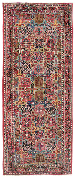 Sarough Vloerkleed 200X470 Echt Oosters Handgeknoopt Tapijtloper Donkerrood/Donkerbruin (Wol, Perzië/Iran)