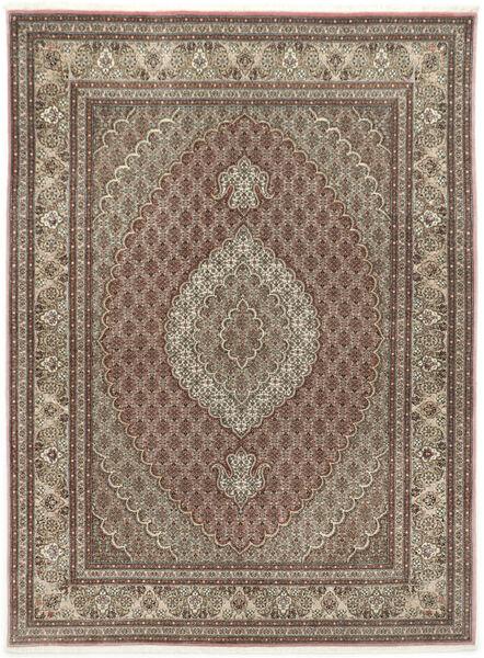 Tabriz 50 Raj Met Zijde Vloerkleed 155X209 Echt Oosters Handgeknoopt Lichtgrijs/Lichtbruin (Wol/Zijde, Perzië/Iran)
