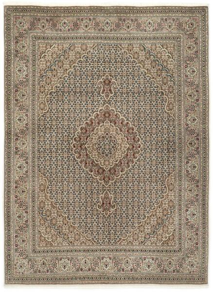 Tabriz 50 Raj Met Zijde Vloerkleed 155X210 Echt Oosters Handgeknoopt Lichtgrijs/Lichtbruin (Wol/Zijde, Perzië/Iran)