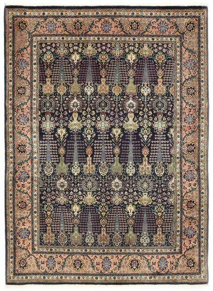 Tabriz 50 Raj Vloerkleed 150X198 Echt Oosters Handgeknoopt Donkergrijs/Donkerblauw (Wol, Perzië/Iran)