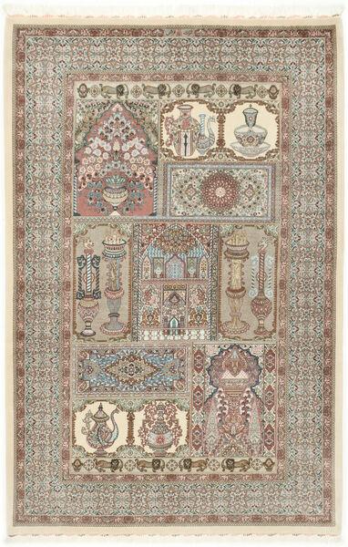Ilam Sherkat Farsh Zijde Vloerkleed 148X223 Echt Oosters Handgeknoopt Lichtgrijs/Beige (Wol/Zijde, Perzië/Iran)