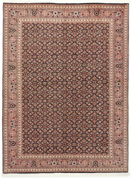 Tabriz 50 Raj Vloerkleed 150X200 Echt Oosters Handgeknoopt Donkerrood/Donkerbruin (Wol/Zijde, Perzië/Iran)