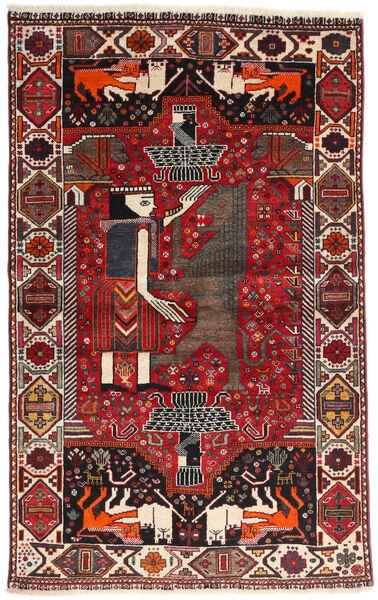 Ghashghai Vloerkleed 107X174 Echt Oosters Handgeknoopt Donkerrood/Zwart (Wol, Perzië/Iran)