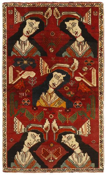 Ghashghai Vloerkleed 106X178 Echt Oosters Handgeknoopt Donkerrood/Donkerbruin (Wol, Perzië/Iran)