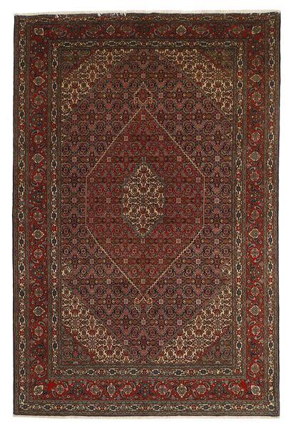 Tabriz 40 Raj Vloerkleed 201X312 Echt Oosters Handgeknoopt Donkerrood/Donkerbruin/Bruin (Wol/Zijde, Perzië/Iran)