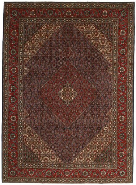 Tabriz 40 Raj Vloerkleed 252X344 Echt Oosters Handgeknoopt Donkerrood Groot (Wol/Zijde, Perzië/Iran)