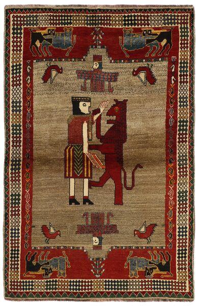 Ghashghai Vloerkleed 132X200 Echt Oosters Handgeknoopt Donkerbruin/Lichtbruin (Wol, Perzië/Iran)