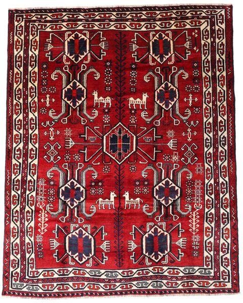 Lori Vloerkleed 195X246 Echt Oosters Handgeknoopt Donkerrood (Wol, Perzië/Iran)