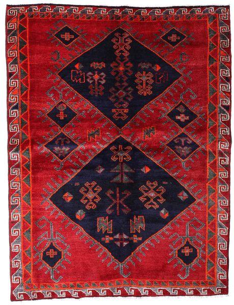Lori Vloerkleed 172X226 Echt Oosters Handgeknoopt Rood/Donkerpaars (Wol, Perzië/Iran)